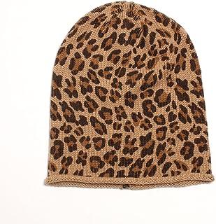 D&Y Women's Leopard Animal Print Slouchy Beanie