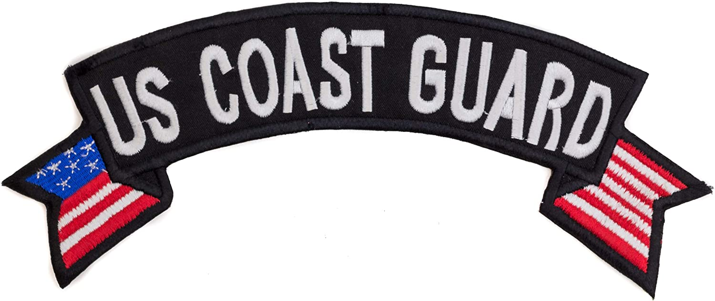 U.S Coast Guard USA Flag Banner Top Rocker Patch CGI for Biker Vest Jacket