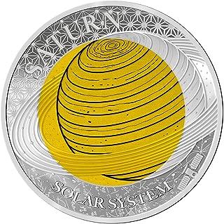 2017 PW Solar System Niob PowerCoin SATURN Niobium Solar System Silver Coin 2$ Palau 2017 Proof