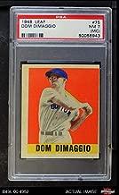 1948 Leaf # 75 Dom DiMaggio Boston Red Sox (Baseball Card) PSA 4 - VG/EX Red Sox