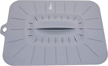 Basic Haus Rectangular Silicone Lid - 12.75 x 10.5 inches - Suction Cover for Baking Dishes, Pans - Microwave Cover - Splatter Protection - Easy Food Storage - BPA Free - Oven Safe