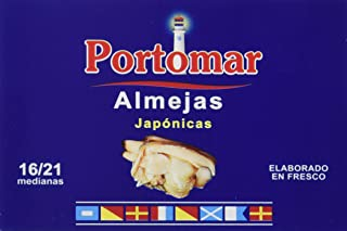 Almejas Japónicas-elaboradas en fresco-16-21 pzs/lata-Portomar-Pack 4 x 111gr-total= 444gr.