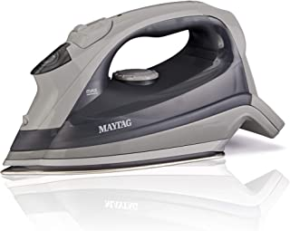 Maytag Speed Heat Steam Iron & Vertical Steamer with Stainless Steel Sole Plate, Self Cleaning Function + Thermostat Dial,...