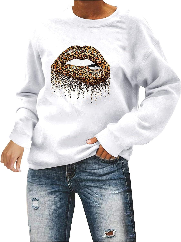 Women Sweatshirts Women's Funny Crewneck Sunflower Graphic Pullover Tops Long Sleeve Sweater Shirts
