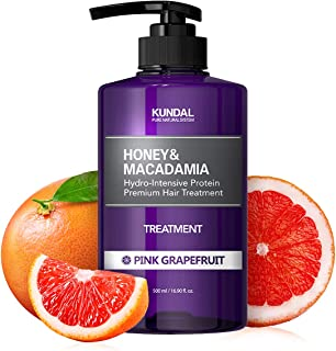 [KUNDAL公式]クンダル プロテイントリートメント500ml ピンクグレープフルーツ Protein Treatment 500ml Pink Grapefruit リンス LPP低分子タンパク質・pH弱酸性・29種類自然エキス配合・しっと...