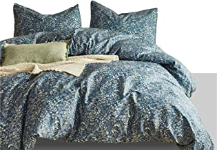 MTB 3 Piece Duvet Cover and Pillow Cases Comforter Bedding Set, 100% Cotton, Smooth & Ultra Soft, Colorful Life, King Size (Also Sold in Queen Size)