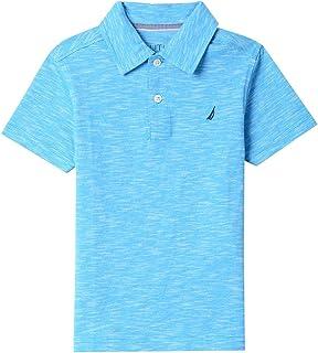 Nautica Boys' Short Sleeve Tipped Collar Polo