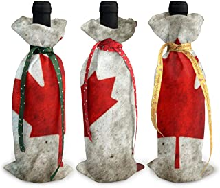 Canada Christmas Wine Bottle Cover Red Wine Gift Bags Champagne Xmas Home Dinner Party Table Decoration
