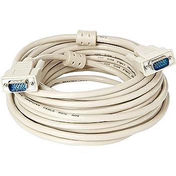 deleyCON 30m Cable VGA 15 Pines S-VGA Conector D-Sub 1080p Full HD Apantallamiento Triple Protecci/ón contra Dobladuras Contactos Dorados