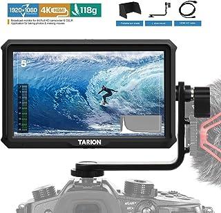 TARION X5 カメラモニター 撮影モニター5インチIPS 1920*1080 400cd/m2 4K HDMI入出力 パススルー FHD 高解像度 超軽量 外部モニター スタビライザー撮影確認用 携帯便利 各種カメラに適用 一眼レフ、デジ...