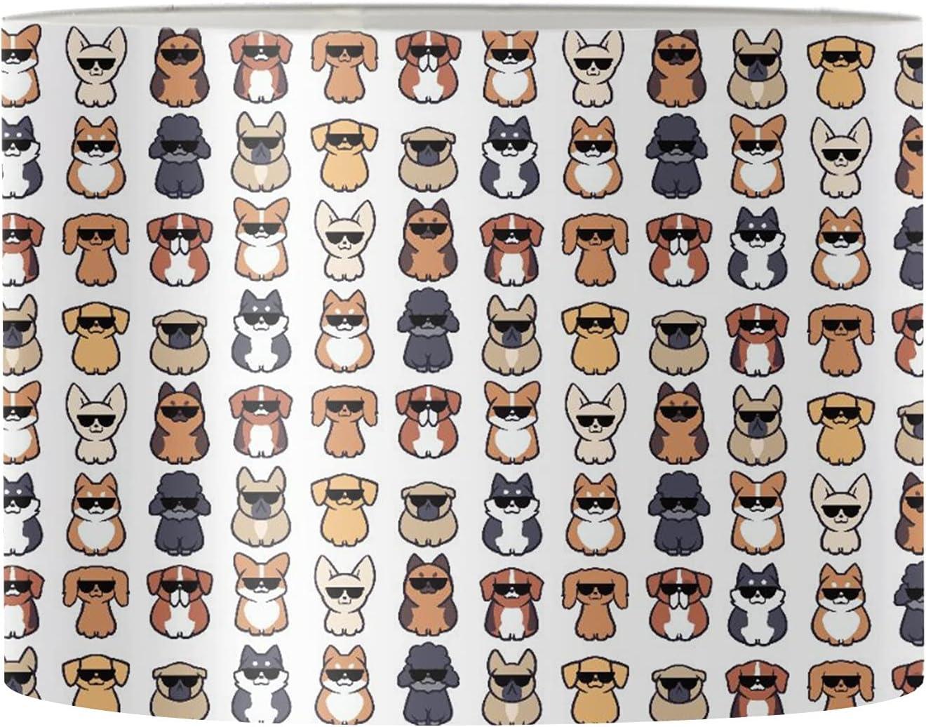Poceacles Dog Animal Modern Sacramento Mall Lamp Cover Shade Kids Translated Cute for