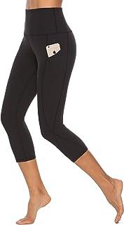 SERHOM Yoga Pants, High Waist Tummy Control Workout Women Yoga Leggings with Pockets