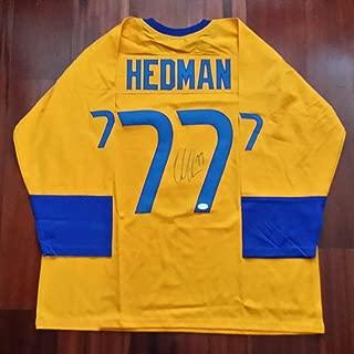 Victor Hedman Autographed Signed Jersey Team Sweden Memorabilia JSA