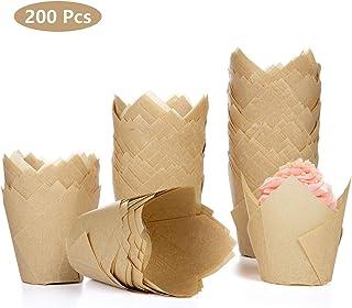 ZQEU Pirottini di carta da forno per muffin muffin dessert festa di nozze bianco