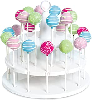 Bakelicious 73861 Cake Pop Stand, 24-Piece, White