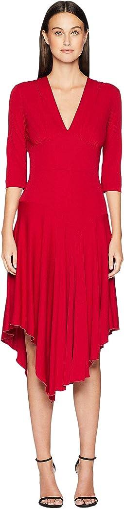 Stretchy Matte Jersey Asymmetrical Dress