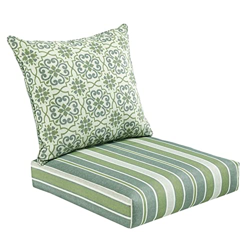 Bossima Indoor and Outdoor Cushion, Comfortable Deep Seat Design, Premium  24 inch Replacement Cushion - Outdoor Cushion Slipcovers: Amazon.com