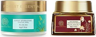 Forest Essentials Pure Aloe Vera Light Hydrating Gel, 50g & Forest Essentials Soundarya Radiance Cream With 24K Gold & SPF...