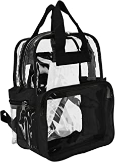 Clear Backpacks (Wholesale Lot of 50 PCS) in Black