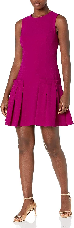 Eliza J Women's A Line Sheath Dress with Pleated Attachments