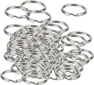 SONONIA 約200個 1.5*20mm シルバー リング キーリング スプリットリング 素材