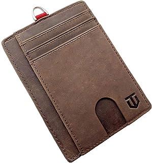 Slim Leather RFID Wallet for Men | Minimalist Front Pocket Design by Titanz