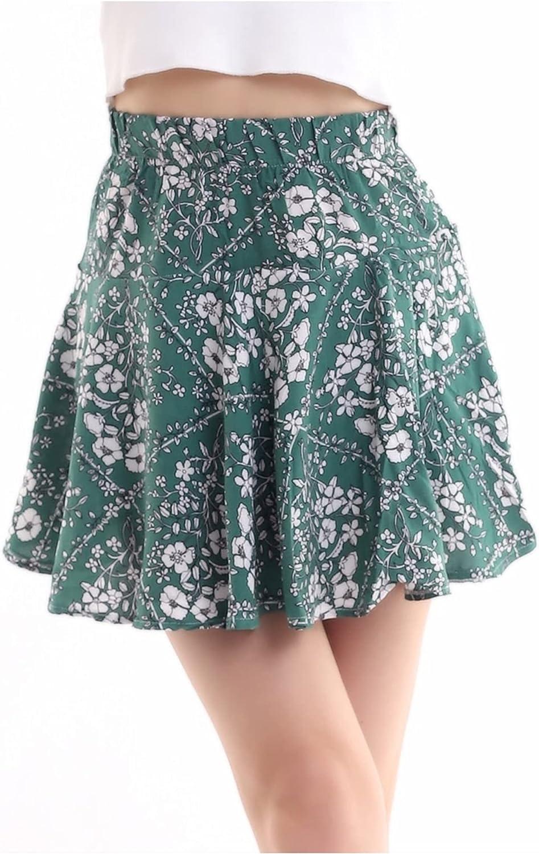 Senia-Floral Casual Mini Skirt for Summer