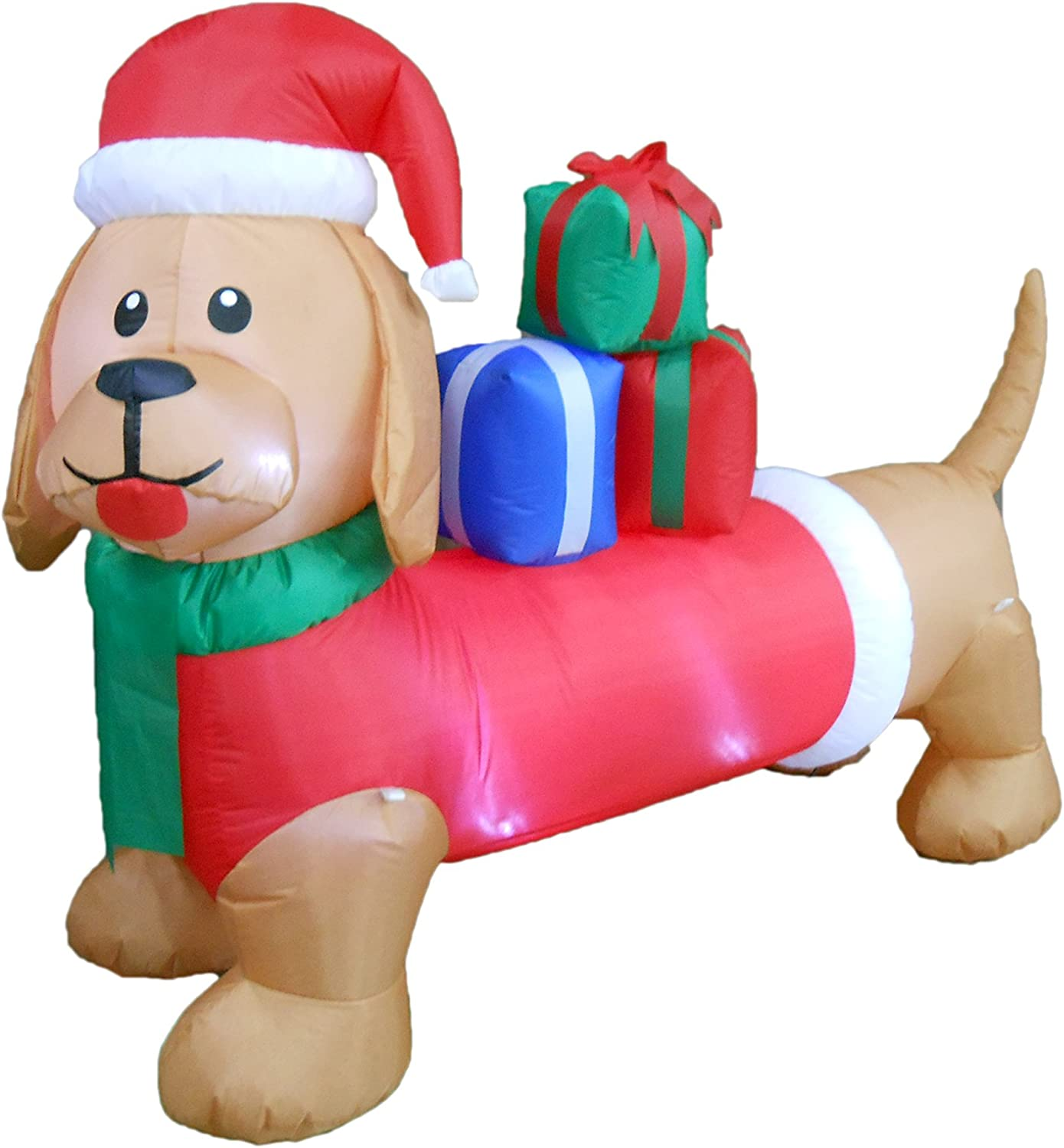 6 Foot Long Christmas Inflatable Dog Yard Decoration