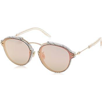 Dior Eclat Sunglasses White Gray Rose Gold