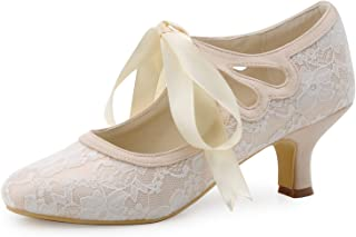 ElegantPark HC1521 Women's Mary Jane Closed Toe Low Heel...