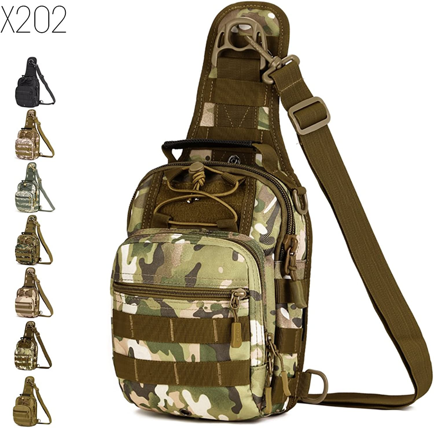 FlyHawk Tactical Rover Sling Pack Military Sport Backpack Shoulder Chest Bag for Hiking, Biking, Running, Trekking and Climbing