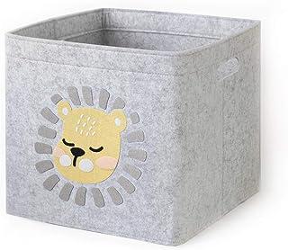 Oddity Aufbewahrungskorb aus Filz Aufbewahrungskorb Faltbox Organizer mit Tragegriffen f/ür Kinderzimmer Kinderzimmer und B/üro