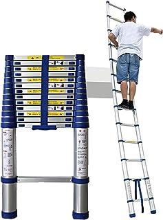 Telescopic Ladder Aluminum Telescoping Collapsible Loft Extendable 4.7M 3.8M 5M