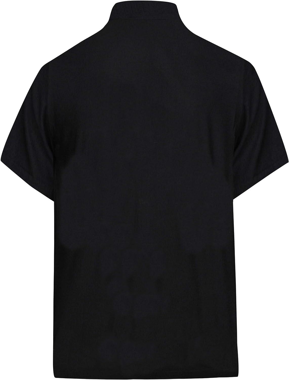 LA LEELA Mens Trendy Button Up Short Sleeve Hawaiian Shirt A