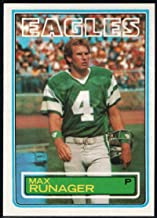 Football NFL 1983 Topps #147 Max Runager Eagles