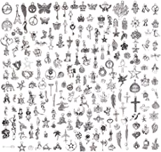 200 Pieces Charms for Jewelry Making Wholesale Bulk, Mixed Tibetan Silver Charms Pendants for DIY Necklace Bracelet Jewelry Making Crafting