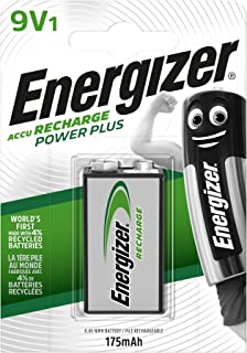 Energizer Rechargeable Batteries 9V, Recharge Power Plus, Pack of 1