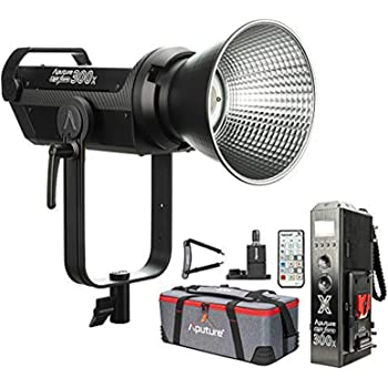 Aputure LS 300x Bi-Color LED Video Light, 2700-6500k 350W 24300lux@1m Sidus Link App & 2.4Ghz Remote Control 9 Built-in Lighting Effects CCT Presets Support