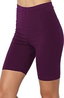 TheMogan Mid Thigh Stretch Cotton Span High Waist Active Bermuda Short Leggings