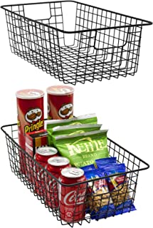 Sorbus Metal Wire Baskets Storage Bin Organizer for Food Pantry, Kitchen, Laundry Room, Basket Organizers for Home, Bathro...