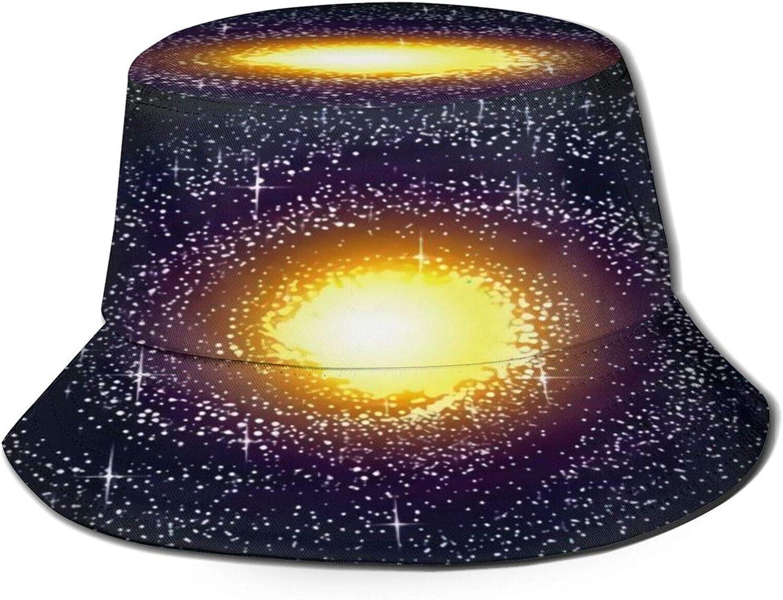 Spiral Galaxy Milky Way Pattern Sun Ranking TOP7 Summer 25% OFF Bucket Hat Unisex