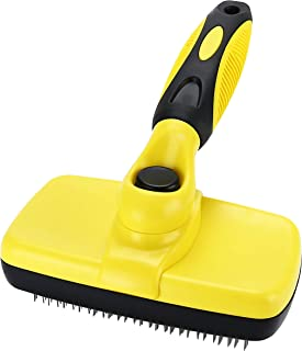 Avont Self Cleaning Slicker Brush for Dogs and Cats, Undercoat Rake Grooming Brush Deshedding Tool Pet Removes Mats, Tangl...