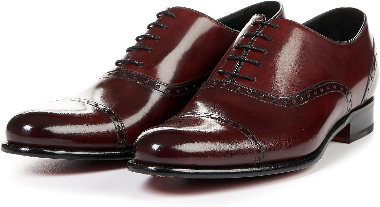 Men's Brando Semi-Brogue Oxford Dress Shoe, Italian Calfskin Leather