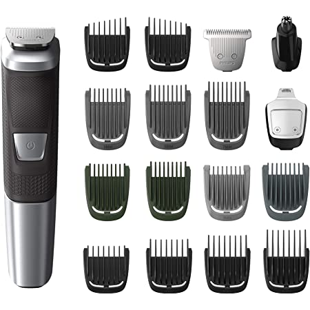 Philips Norelco MG5750/49 Multigroom All-In-One Trimmer Series 5000 With 8Piece, No Blade Oil Needed, Black, 1 Count