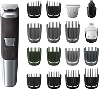 Sponsored Ad - Philips Norelco MG5750/49 Multigroom All-In-One Trimmer Series 5000 With 18Piece, No Blade Oil Needed,