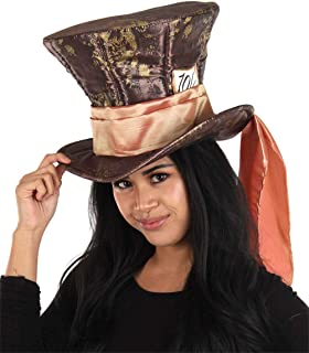 Sponsored Ad - Disney Alice in Wonderland Mad Hatter Hat for Adult Men and Women Brown