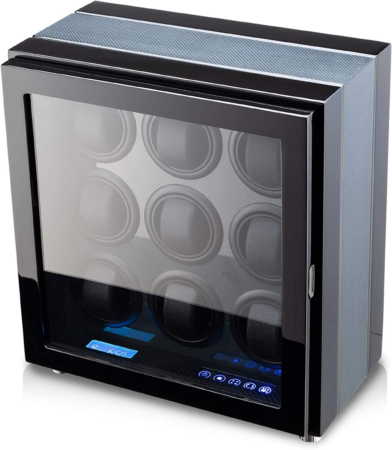 Watch Winder for 9 Watches with New Sacramento Mall arrival Backlight LED Control and Remote