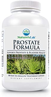 Nature's Lab Prostate Formula - Capsules (3 Month Supply) Powerful Blend of Essential nutrients Zinc, Selenium, Saw Palmet...
