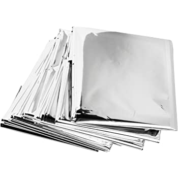 "Science Purchase 73MYLARPK20 Emergency Mylar Thermal Blankets, 54"" x 84"" (Pack of 20)"
