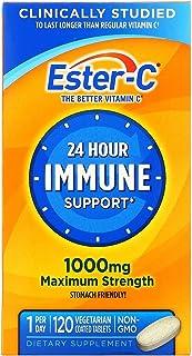 فيتامين سي من استر- سي، دعم المناعة لمدة 24 ساعة، 1000 ملغ من فيتامين سي، 120 قرص مغلف